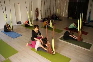 yoga im tuch